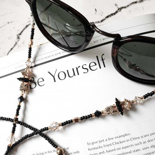 juoda gransinele akiniams, grandinėlė akiniams